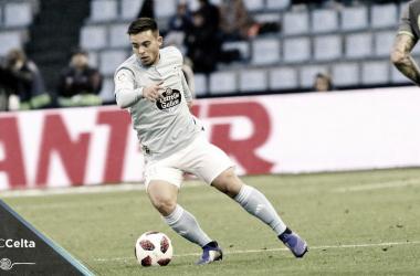Beltrán en su debut con el Celta | Fuente: RC Celta de Vigo