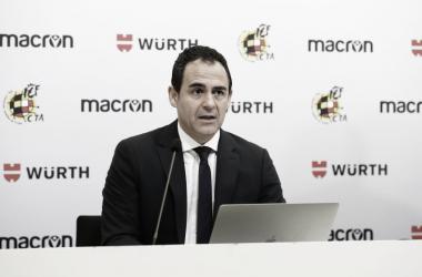 Velasco Carballo en rueda de prensa | Foto: RFEF