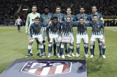 Derrota contundente de un equipo que no termina de cuajar. Fuente: Atlético de Madrid.