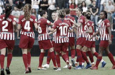 Victoria en el debut liguero de las chicas de Jose Luis Sánchez Vera. Fuente: Atlético Féminas