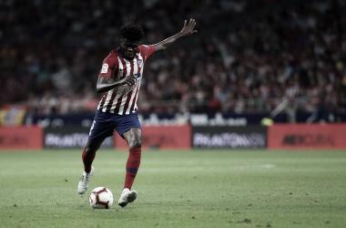 Thomas se asoció con Koke para derrotar al Huesca. Fuente: Atlético de Madrid