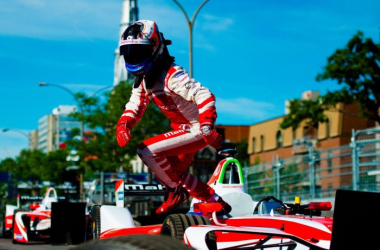 Felix Rosenqvist will start on pole, alongside Sam Bird. (Image Credit: Mahindra Racing)