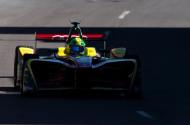 Di Grassi now leads the championship, for the first time this season, by six points with one round to go. (Image Credit: Abt Schaeffler Audi Sport)
