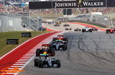 Lewis Hamilton was untroubled during the race, and became the third driver to win 50 or more Grand Prix. (Image Credit: Sutton Images)