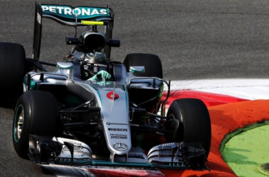 As Mercedes dominated FP1, it was Nico Rosberg who edged out Lewis Hamilton to take bragging rights. (Image Credit: Sky Sports)