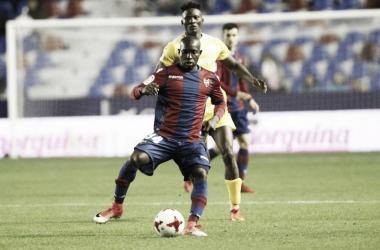 Youssouf Yalike debutando con el primer equipo. Foto:Levanteud.com