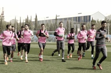 Alegría en el entrenamiento tras recuperar a Morales