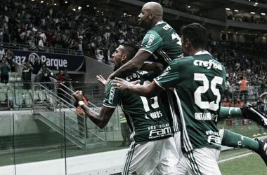 Felipe Melo e Rafael Marques marcaram para o Palmeiras Foto: Divulgação / Palmeiras