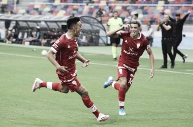 GRITO DE GOL. César Ibáñez anotó un golazo para darle la victoria al 'Globo', que se impuso de visitante.