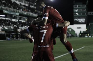 CON GANAS DEL FINDE. El 'Globo' ganó con un partidazo, está décimo y el fin de semana enfrenta a San Lorenzo, en condición de local.