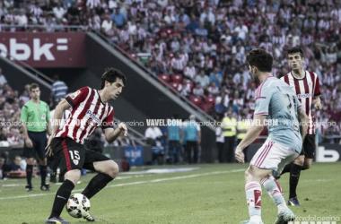 Andoni Iraola y Markel Susaeta en un lance del Athletic - Celta de la presente temporada.   Foto: Ricardo Larreina (UGS Visión).