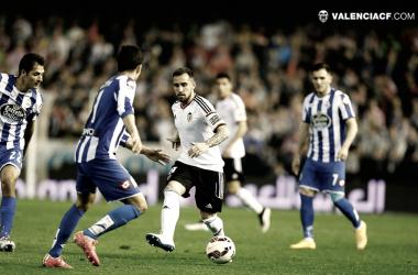 Valencia CF - Deportivo de La Coruña, partido de vuelta en Mestalla (2015) | Fuente: Valencia CF