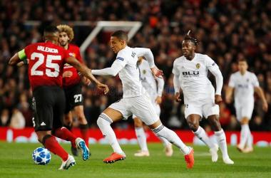 Enfrentamiento entre Manchester United y Valencia CF. | Foto: Valencia CF