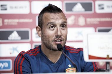 Santi Cazorla durante la conferencia de prensa | Fotografía: EFE