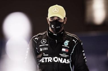 Lewis Hamilton após o qualifying dp GP Abu Dhabi 2020 (Foto: Divulgação / F1)