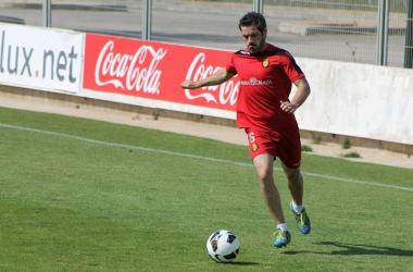 """Antonio López: """"Me siento importante para el equipo""""   Foto: www.rcdmallorca.es."""