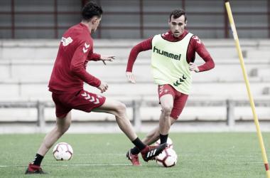 Imanol García en un entrenamiento.. Foto: Osasuna
