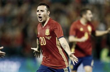 Cazorla celebra un gol con España | Foto: SeFútbol