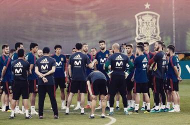 España se encuentra concentrada en Sochi para su debut ahora sin Julen I Foto: Prensa RFEF