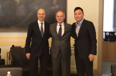 Marco Fassone, Auro Palumbo e Han Li, corrieredellosport.it