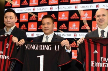 Li Han, Li Yonghong e Marco Fassone, repubblica.it