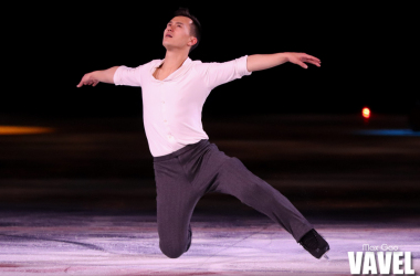 """Patrick Chan skating to Patrick Watson's """"The Great Escape"""" at the Stars on Ice show in Toronto on May 3, 2019."""