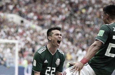Lozano abrió el marcador ante Alemania I Foto: Prensa FMF