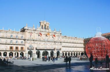 La Plaza Mayor de Salamanca en una estampa Navideña (Imagen: AlmaLeonor, de Vavel).