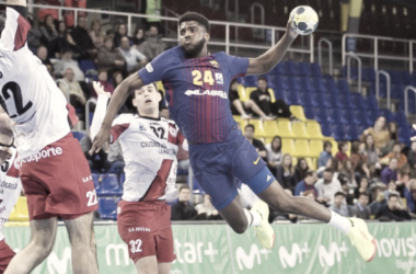 El Barcelona destroza en la segunda parte al Balonmano Logroño