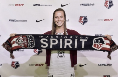 Cameron Castleberry as she proudly represents being chosen by the Spirit. (Source: NWSL)