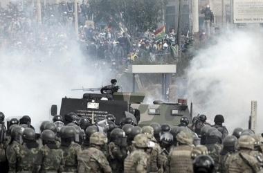 Protestas violentas en Bolivia. Foto: Twitter Oficial de Evo Morales.
