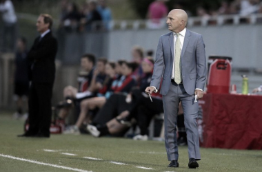 Head coach Paul Riley observing from the sideline. | Source: North Carolina Courage