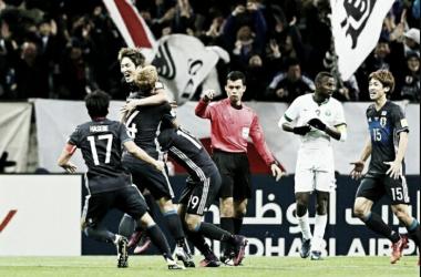 Japón 2-0 Arabia Saudita. Foto: EFE