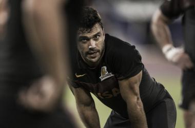 La cara de resignación de Martín Landajo explica el momento de Jaguares en esta segunda aventura por el Super Rugby. Crédito: Jaguares.