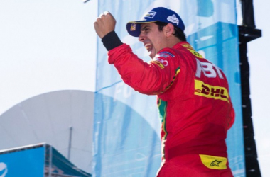 After finishing third in Season 1, runner-up in Season 2, Lucas di Grassi is Formula E champion in Season 3. (Image Credit: Abt Schaeffler Audi Sport Formula E Team)