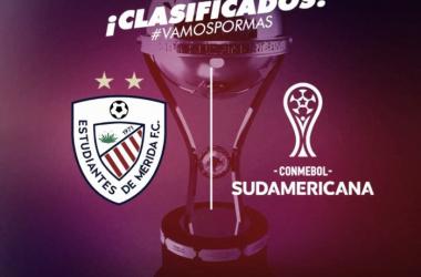 Estudiantes de Mérida clasificó a la Copa CONMEBOL Sudamericana 2018. Imagen: estudiantesdemeridafc.com