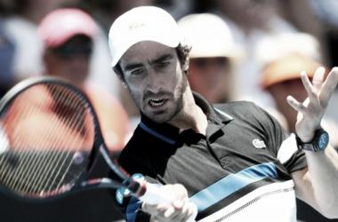 Cuevas en su partido de hoy. Foto: ATP