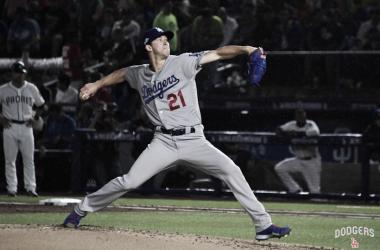 Walker Buehler fue el pitcher ganador | Foto: Los Ángeles Dodgers