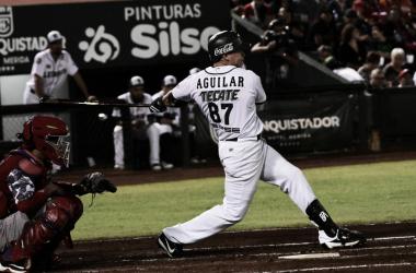 Aguilar impulsó carrera en el séptimo rollo | Foto: Cortesía Leones de Yucatán