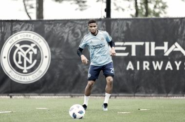 Ismael Tajouri-Shradi in training ahead of Saturday's game. | Photo: New York City FC