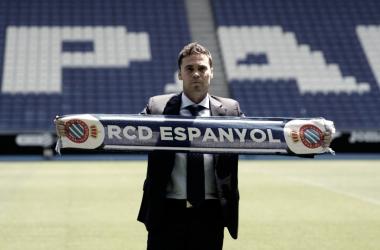 Rubi, en su presentación en el RCDE Stadium / Foto: RCD Espanyol.