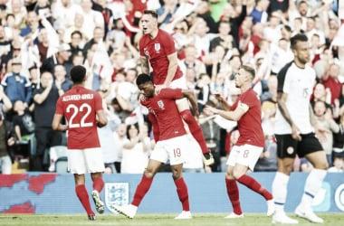 Rashford marcó el primer gol de la tarde | Foto: The FA