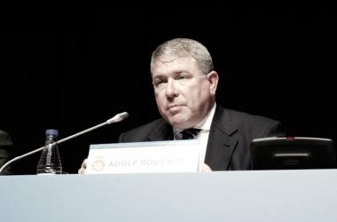 Adolf Rousaud, en la Junta de Accionistas de este año / Foto: RCD Espanyol.