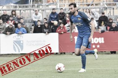 Marcos Gullón durante un partido de la temporada pasada / Foto: CF Fuenlabrada