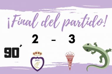 Fotomontaje finalización del partido (Real Jaén)