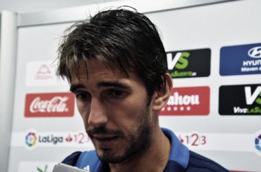 Dejan Lekic en zona mixta. Fuente: cádizcf.com