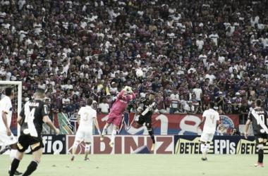 Marcelo Boeck saindo do gol (Foto:Leonardo Moreira/Fortaleza EC)