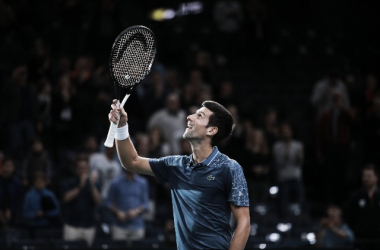 Nole vuelve a estar en la cima del tenis.   Foto: Prensa Rolex París Masters.