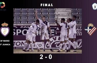 El Real Jaén vence sin excesivo esfuerzo