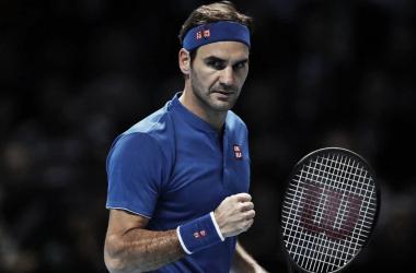 Federer alcanzó las semifinales del ATP World Tour Finals por novena vez en diez años. | Foto: Prensa ATP.
